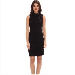 Calvin Klein Charcoal Grey Zipper Sheath Dress 12